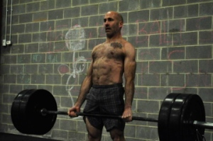 @ BFBC 245# dead-lifts. Yes, I'm shirtless.