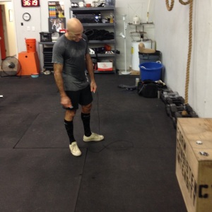 I remember this moment all too well. Although I hadn't moved the chip, I was completing my last round and was midway through last round of 63 double unders.