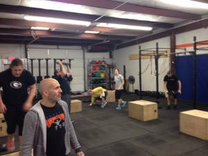Yours truly coaching Community WOD.