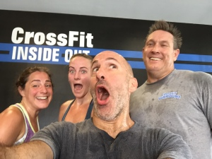 Post-WOD selfie with Angie, M-something, me, and Jeff