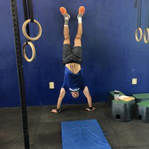 Forward roll + handstand!